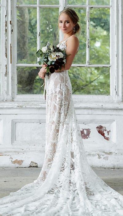 abito da sposa shabby boho chic collezione 2020