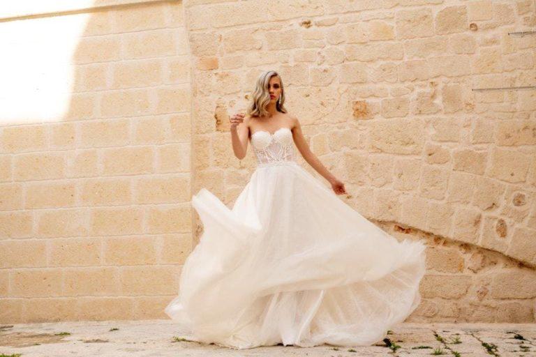 vestito da sposa scivolato